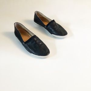Frye Leather Melanie Slip On Shoe Black SZ 8
